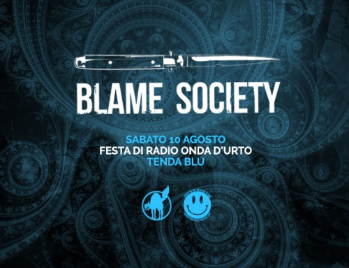 BLAME SOCIETY IN TENDA BLU